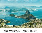 panoramic view of rio de... | Shutterstock . vector #502018381