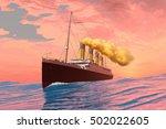 passenger liner 3d illustration ... | Shutterstock . vector #502022605