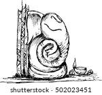 lord ganesha sketch | Shutterstock .eps vector #502023451