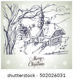 christmas and new year hand...   Shutterstock .eps vector #502026031
