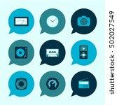 vector flat icons set   gadgets ... | Shutterstock .eps vector #502027549