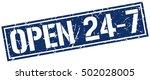 open 24 7. grunge vintage open... | Shutterstock .eps vector #502028005