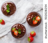 chocolate mousse with... | Shutterstock . vector #502028254