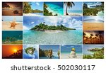 Photo Collage Tropical Landscapes Located - Fine Art prints