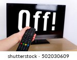 hand using a remote control to... | Shutterstock . vector #502030609