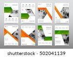brochure layout template flyer... | Shutterstock .eps vector #502041139