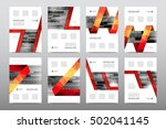brochure layout template flyer... | Shutterstock .eps vector #502041145