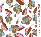 abstract ethnic vector seamless ... | Shutterstock .eps vector #502042189