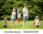 childhood  augmented reality ... | Shutterstock . vector #502045459