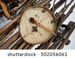 Koryak Shaman Drum Used As A...