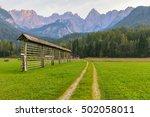 Alpine Landscape With Dirt Roa...