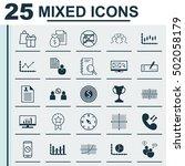 set of 25 universal editable... | Shutterstock .eps vector #502058179