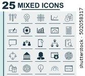 set of 25 universal editable... | Shutterstock .eps vector #502058317
