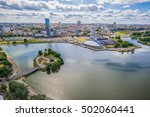 aerial view  cityscape of minsk ... | Shutterstock . vector #502060441