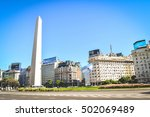 BUENOS AIRES - ARGENTINA: The Obelisk in Buenos Aires, Argentina