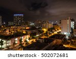 long exposition night shot of... | Shutterstock . vector #502072681