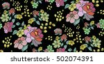 seamless floral pattern in... | Shutterstock .eps vector #502074391