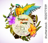 tropical party template... | Shutterstock .eps vector #502077559