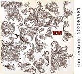 calligraphic vector vintage... | Shutterstock .eps vector #502081981