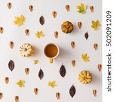 Autumn Leaves Pattern With...