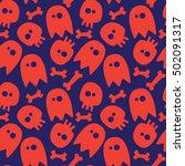 halloween seamless background ...   Shutterstock .eps vector #502091317