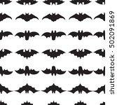 halloween seamless pattern with ... | Shutterstock .eps vector #502091869
