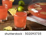 homemade jamaican rum punch... | Shutterstock . vector #502093735