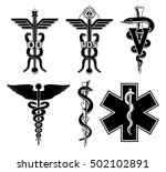 medical symbols graphic is an... | Shutterstock . vector #502102891