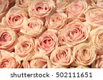 Pink Roses In A Wedding Flower...