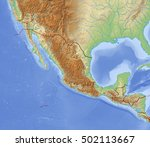 relief map of mexico   3d... | Shutterstock . vector #502113667