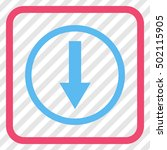 down rounded arrow pink and... | Shutterstock .eps vector #502115905