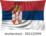 serbian national official flag. ... | Shutterstock . vector #502132909