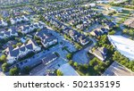 panoramic aerial typical multi... | Shutterstock . vector #502135195