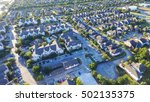 panoramic aerial typical multi... | Shutterstock . vector #502135375