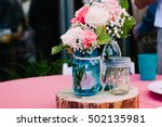 Mason Jar Bouquet Centerpiece...