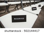 black and white reserved sign.... | Shutterstock . vector #502144417