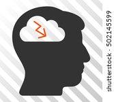 orange and gray brainstorming... | Shutterstock .eps vector #502145599