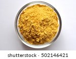 nutritional yeast in a bowl... | Shutterstock . vector #502146421