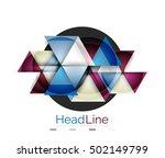 vector 3d geometric abstract... | Shutterstock .eps vector #502149799