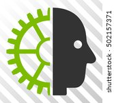 eco green and gray cyborg head... | Shutterstock .eps vector #502157371