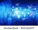 2d illustration world map... | Shutterstock . vector #502162657