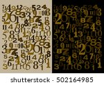 numbers time and math concept | Shutterstock .eps vector #502164985