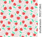 vector cherry pattern | Shutterstock .eps vector #502171861