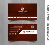 colorful business card template ... | Shutterstock .eps vector #502171891