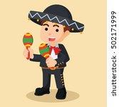 mariachi hold maracas | Shutterstock . vector #502171999