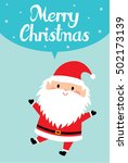 cute santa claus merry... | Shutterstock .eps vector #502173139
