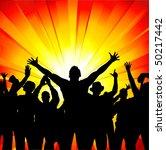 group sport fans. | Shutterstock .eps vector #50217442