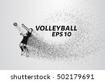 a volley of particles.... | Shutterstock .eps vector #502179691