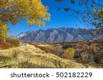 mountains with yellow fall... | Shutterstock . vector #502182229