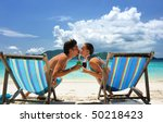 couple on a tropical beach in... | Shutterstock . vector #50218423